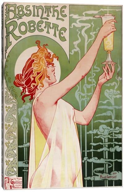 Absinthe Robette Vintage Poster Canvas Art Print