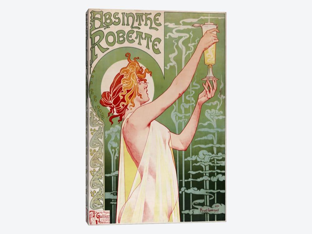 Absinthe Robette Vintage Poster by Henri Privat-Livemont 1-piece Canvas Art Print