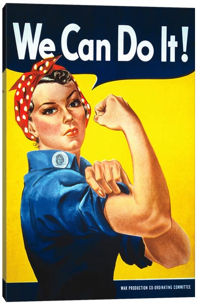 We Can Do It! (Rosie The Riveter) Poster Canvas Art Print