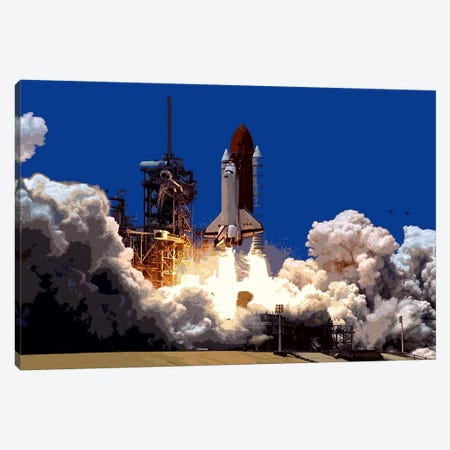 Into Outer Space Canvas Print #503} by Unknown Artist Canvas Art Print