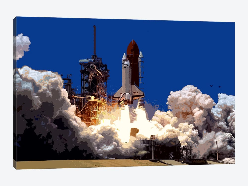Into Outer Space by Unknown Artist 1-piece Canvas Artwork