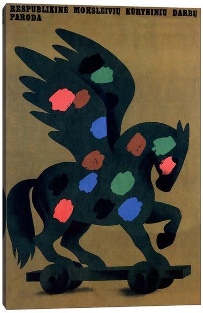 Student Creative Works Exhibition Soviet Vintage Poster Canvas Print #5040