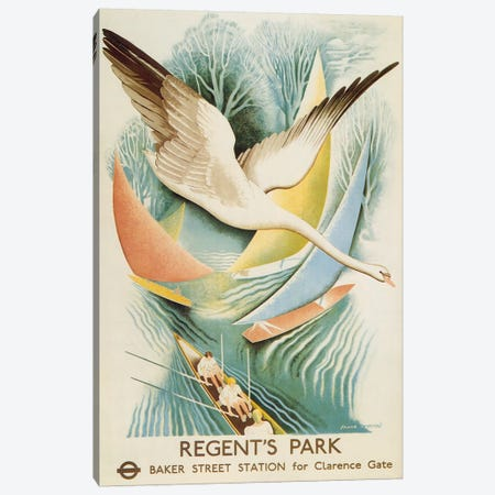 Regent's Park London Underground Vintage Poster Canvas Print #5043} by Unknown Artist Canvas Art Print