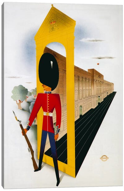 Royal London London Underground Vintage Poster Canvas Print #5044