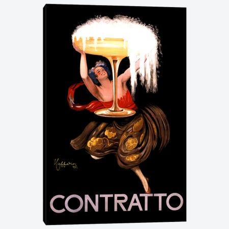 Contratto Champagne Vintage Advertisement Canvas Print #5050} by Leonetto Cappiello Canvas Art