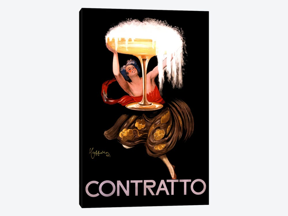 Contratto Champagne Vintage Advertisement by Leonetto Cappiello 1-piece Art Print