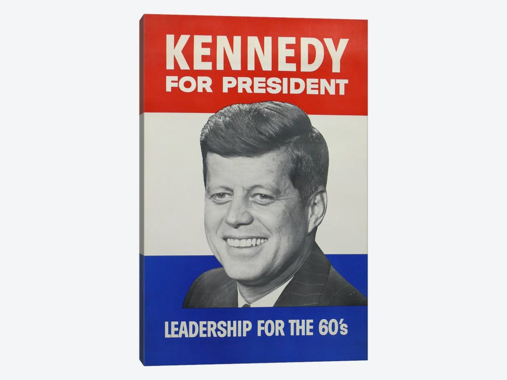 Kennedy For President Campaign Vintage Poster 1-piece Canvas Artwork