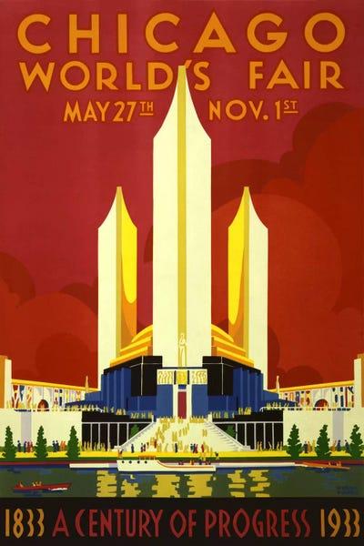 Chicago World\'s Fair 1933 Vintage Poster Canvas Wall Art | iCanvas