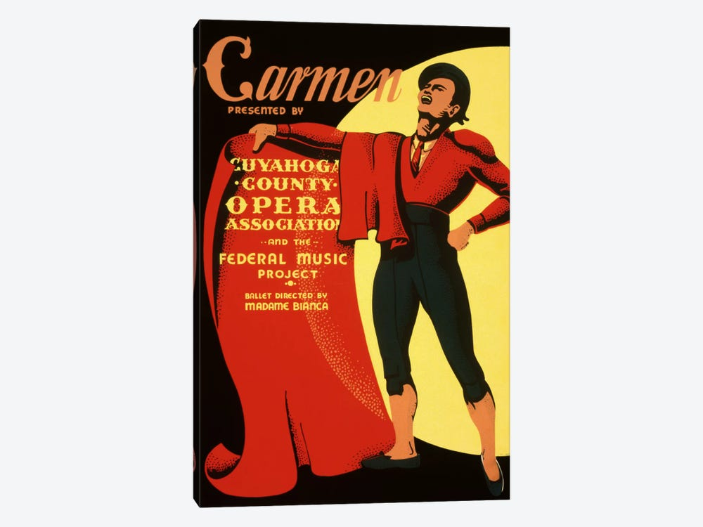 Carmen Opera Matador Vintage Poster by Unknown Artist 1-piece Art Print