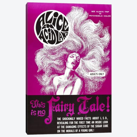 Alice In Acidland Vintage Movie Poster Canvas Print #5065} by Unknown Artist Canvas Artwork