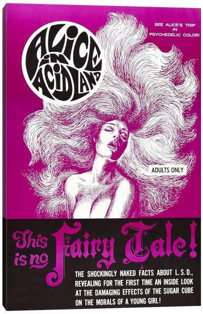 Alice In Acidland Vintage Movie Poster Canvas Art Print