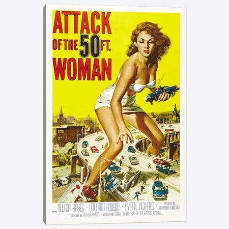 Attack of The 50 Foot Woman Vintage Movie Poster Canvas Print #5067} by Reynold Brown Canvas Art
