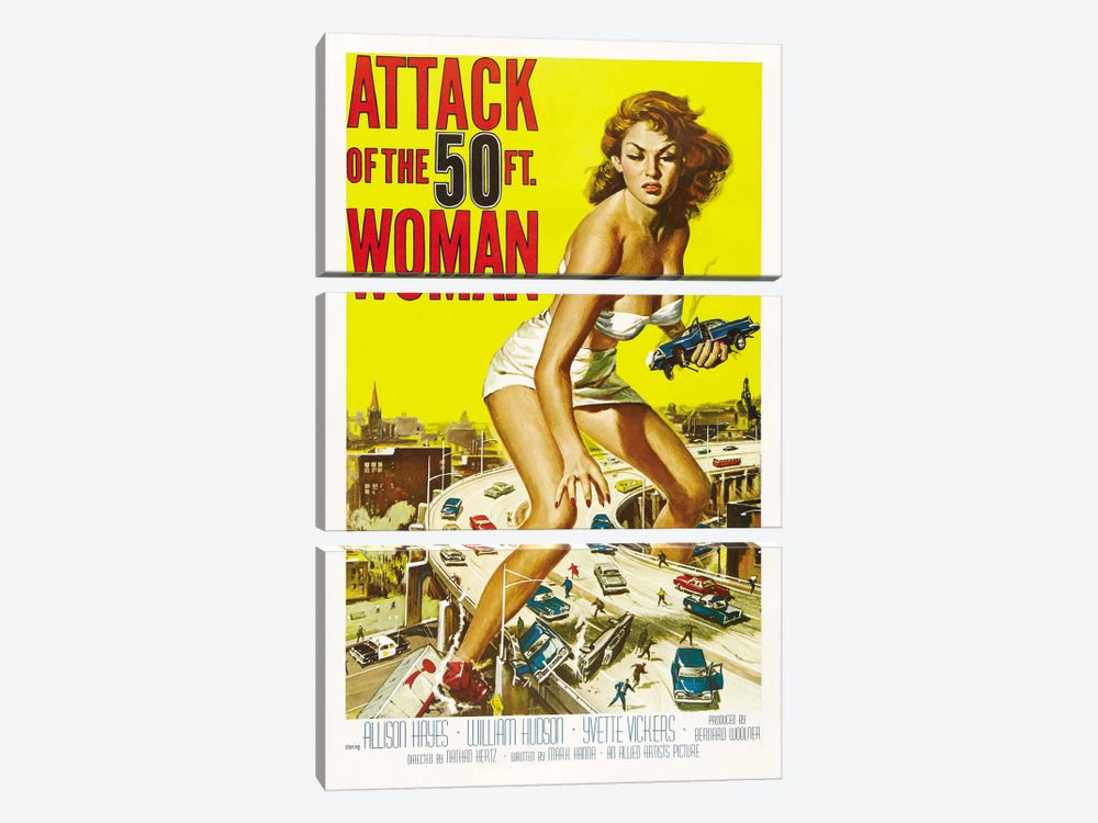 Attack of The 50 Foot Woman Vintage Movie Poster by Reynold Brown 3-piece Art Print
