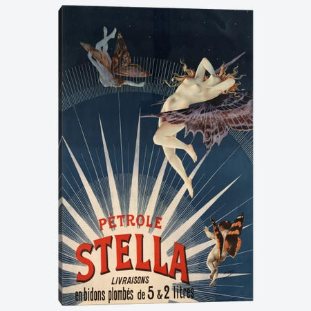 Pätrole Stella French Lighting Oil Vintage Advertising Poster Canvas Print #5089} Canvas Print