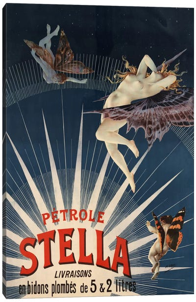 Pätrole Stella French Lighting Oil Vintage Advertising Poster Canvas Print #5089