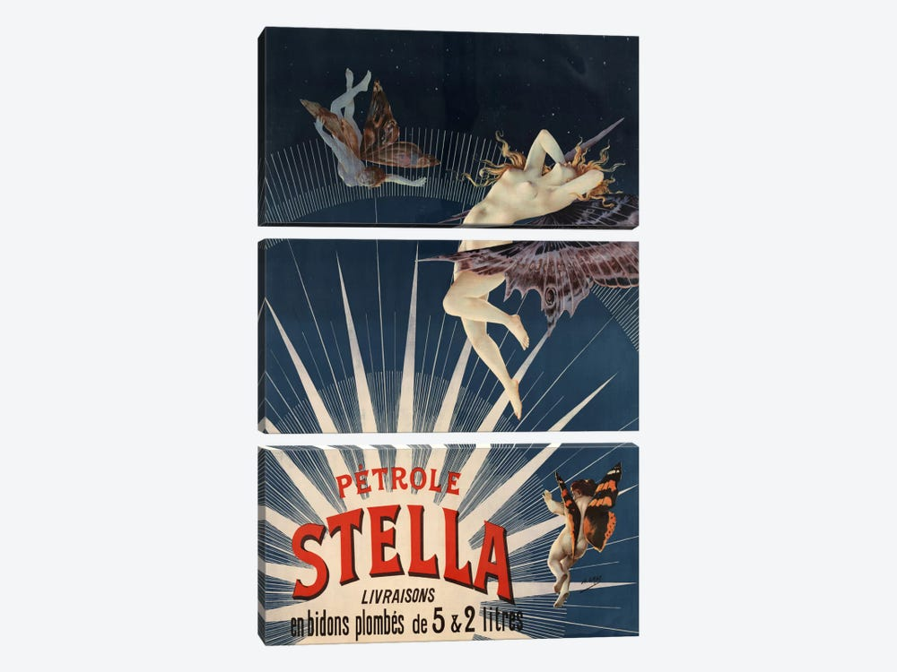 Pätrole Stella French Lighting Oil Vintage Advertising Poster 3-piece Canvas Print
