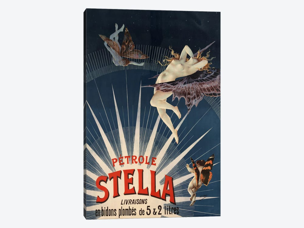 Pätrole Stella French Lighting Oil Vintage Advertising Poster by Unknown Artist 1-piece Canvas Art Print