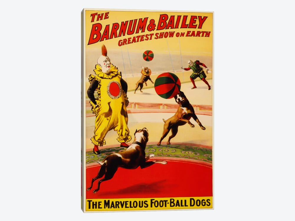 Barnum & Bailey Vintage Circus Poster by Unknown Artist 1-piece Canvas Art Print