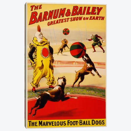 Barnum & Bailey Vintage Circus Poster Canvas Print #5090} by Unknown Artist Canvas Art