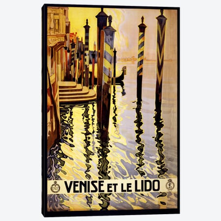Venise Et Le Lido Venice Italy Vintage Travel Poster Canvas Print #5091} by Unknown Artist Canvas Art