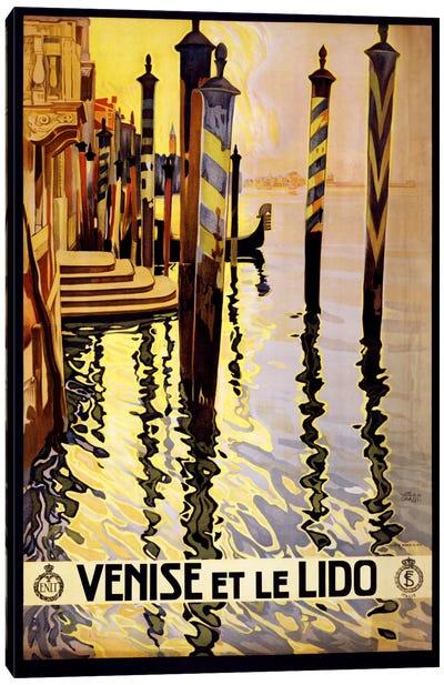 Venise Et Le Lido Venice Italy Vintage Travel Poster Canvas Print #5091