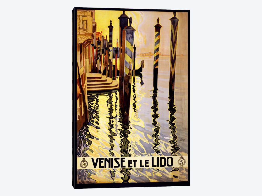 Venise Et Le Lido Venice Italy Vintage Travel Poster by Unknown Artist 1-piece Canvas Art