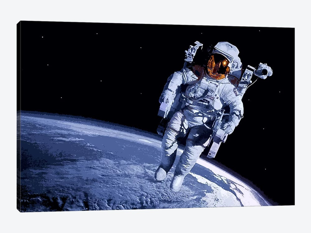 Spaceman by Unknown Artist 1-piece Canvas Art