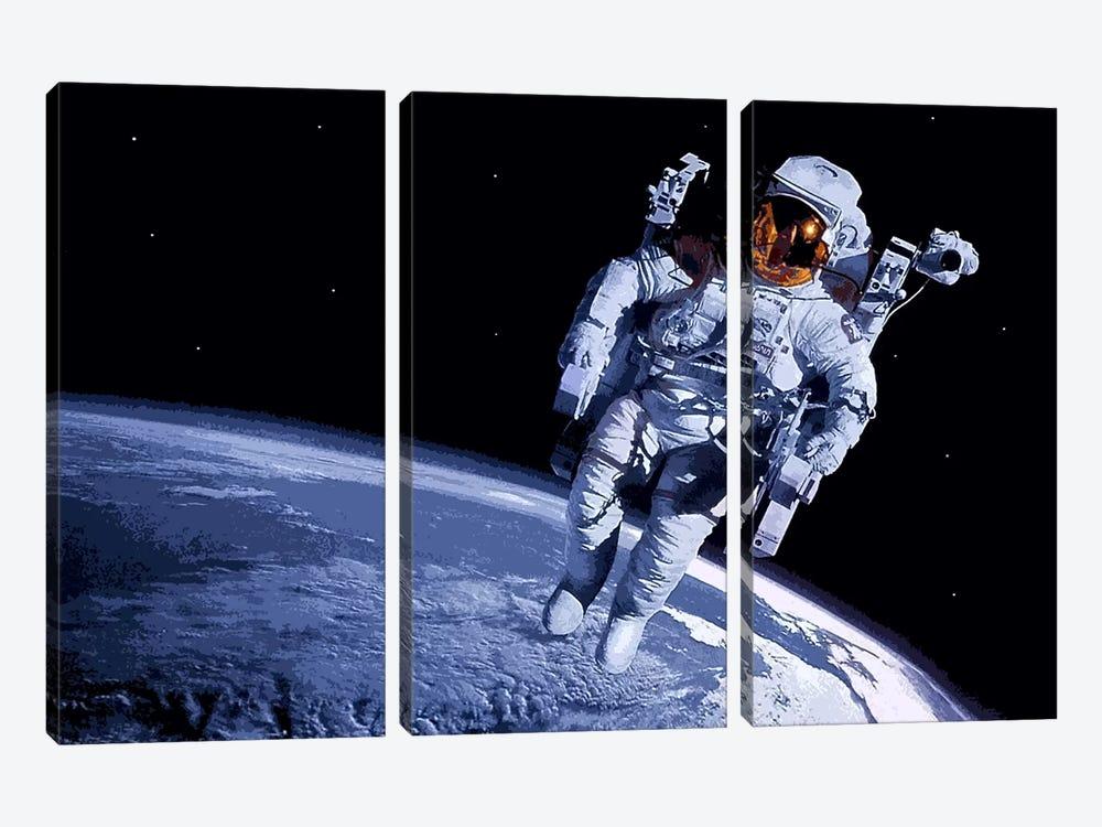 Spaceman by Unknown Artist 3-piece Canvas Artwork
