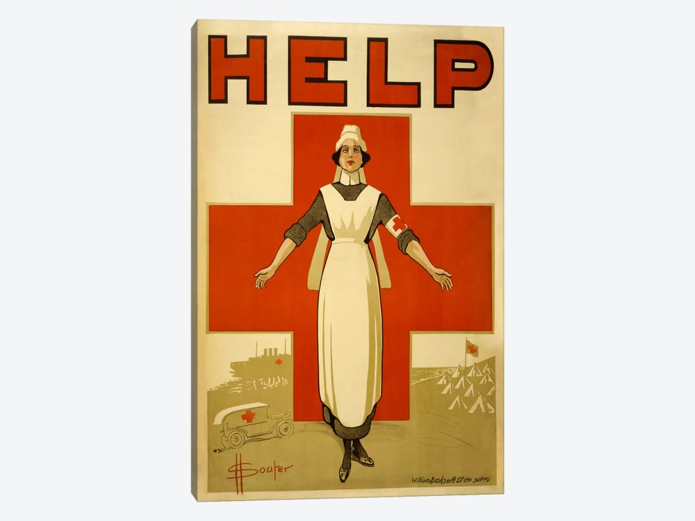 Help Australian Red Cross Vintage Poster by Unknown Artist 1-piece Art Print
