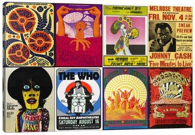 Johnny CashThe Who, Fleetwood Mac, The Doors, Jefferson Airplane Concert Poster Canvas Art Print