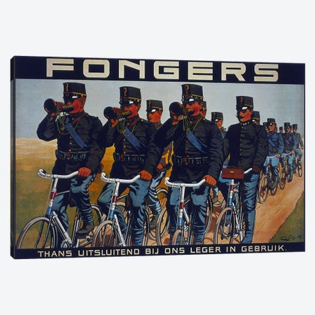 Fongers Bicycle Advertising Vintage Poster Canvas Print #5150} by Unknown Artist Canvas Print