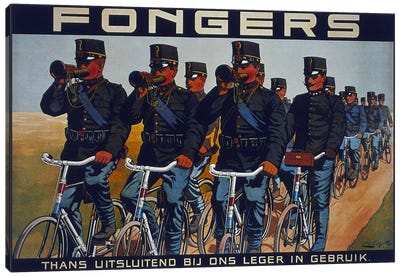Fongers Bicycle Advertising Vintage Poster Canvas Art Print