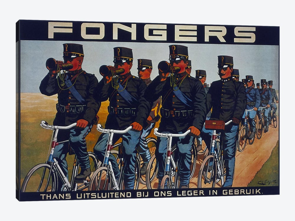 Fongers Bicycle Advertising Vintage Poster 1-piece Canvas Art