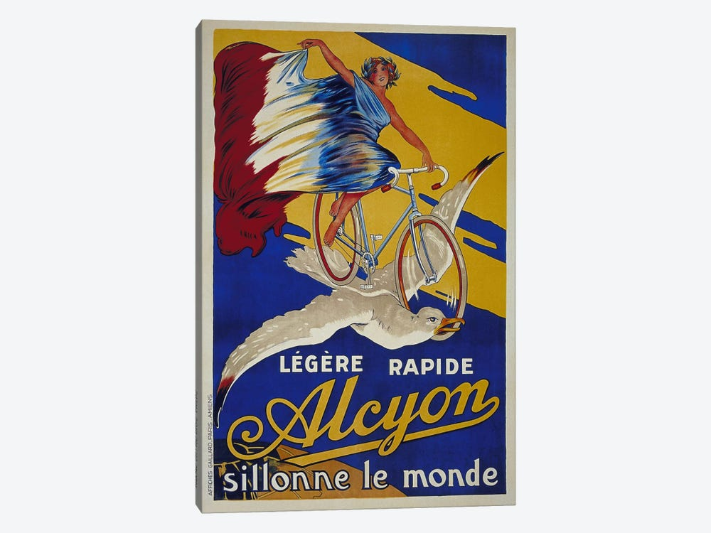 Alcyon French Bicycle Advertising Vintage Poster 1-piece Canvas Print