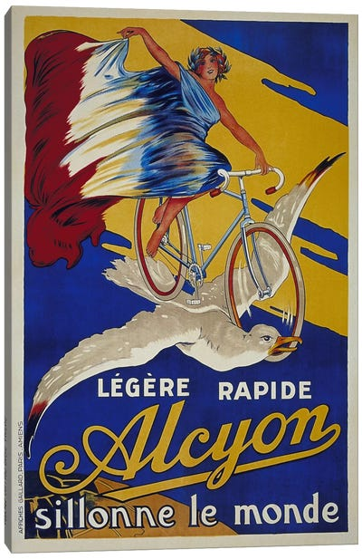 Alcyon French Bicycle Advertising Vintage Poster Canvas Art Print