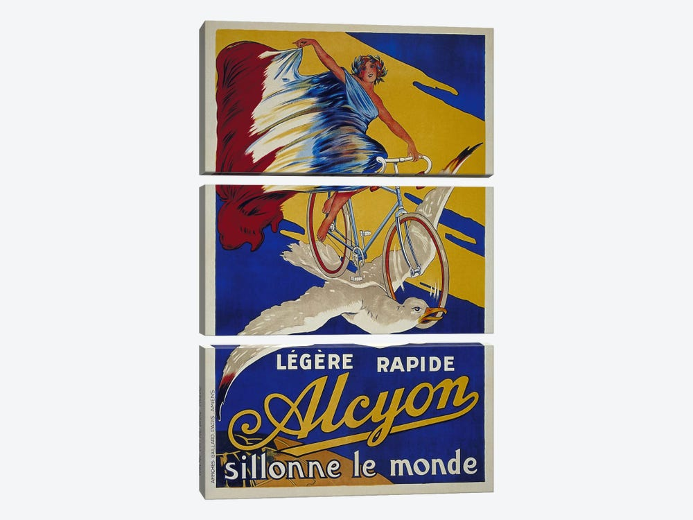 Alcyon French Bicycle Advertising Vintage Poster by Unknown Artist 3-piece Art Print