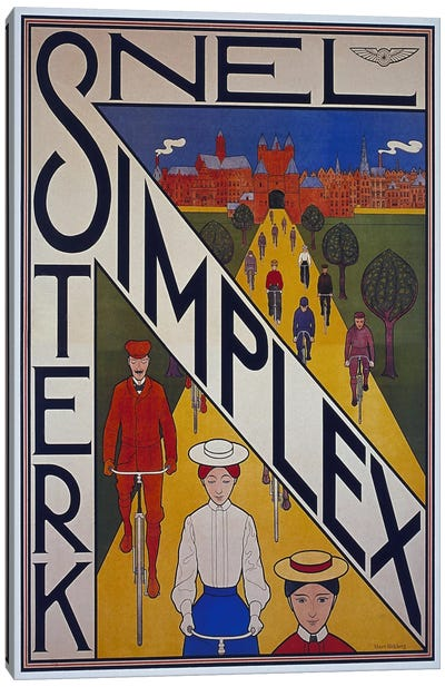 Snel Simplex Bicycle Advertising Vintage Poster Canvas Art Print