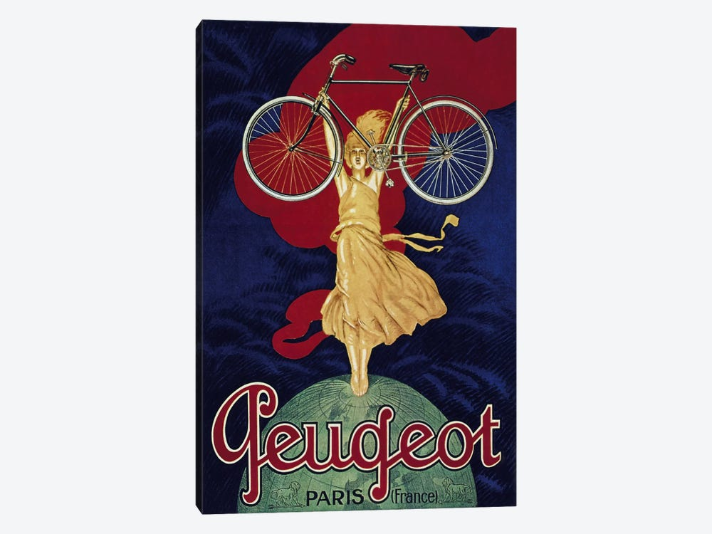 Peugeot Bicycle Advertising Vintage Poster by Unknown Artist 1-piece Art Print