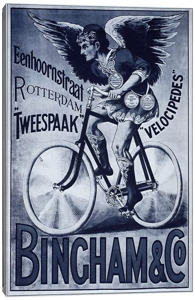 Bincham & Co. Bicycle Advertising Vintage Poster Canvas Art Print