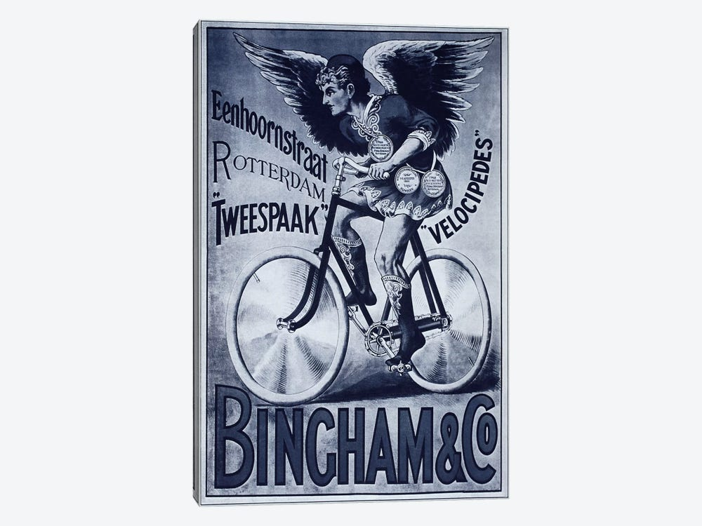 Bincham & Co. Bicycle Advertising Vintage Poster 1-piece Canvas Art