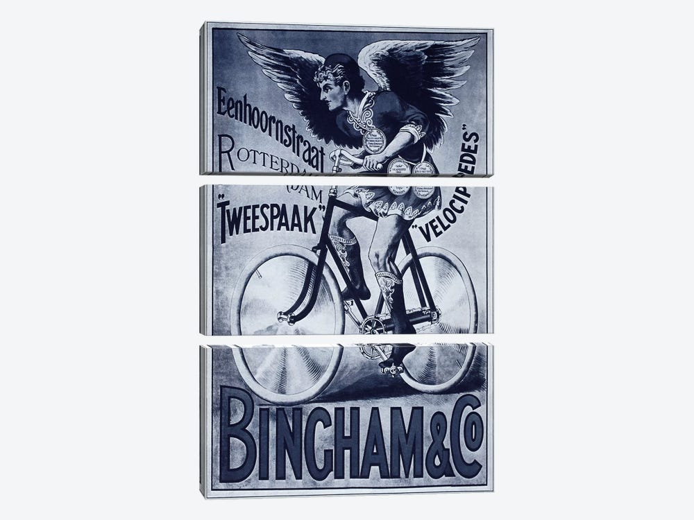 Bincham & Co. Bicycle Advertising Vintage Poster by Unknown Artist 3-piece Canvas Wall Art