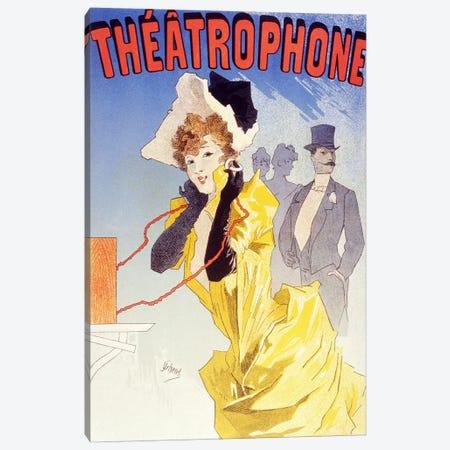 Theatrophone (Advertising) Vintage Poster 3-Piece Canvas #5156} by Unknown Artist Canvas Artwork