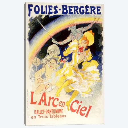 Larc en Ciel (Ballet-Pantomime en Trois Tableaux) Folies - Bergere Vintage Poster Canvas Print #5157} by Unknown Artist Canvas Wall Art