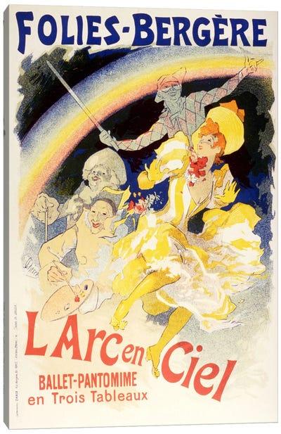 Larc en Ciel (Ballet-Pantomime en Trois Tableaux) Folies - Bergere Vintage Poster Canvas Print #5157