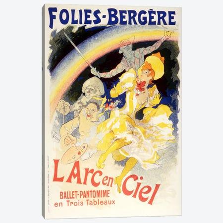 Larc en Ciel (Ballet-Pantomime en Trois Tableaux) Folies - Bergere Vintage Poster Canvas Print #5157} by Unknown Artist Canvas Wall Art