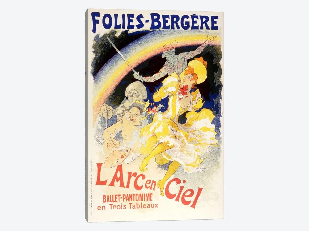 Larc en Ciel (Ballet-Pantomime en Trois Tableaux) Folies - Bergere Vintage Poster by Unknown Artist 1-piece Canvas Art Print