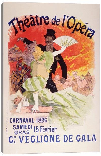 Carnaval (Veglione de Gala) - Theatre de l'Opera Vintage Poster Canvas Print #5158