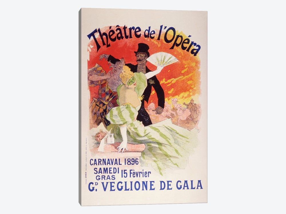 Carnaval (Veglione de Gala) - Theatre de l'Opera Vintage Poster by Unknown Artist 1-piece Canvas Artwork