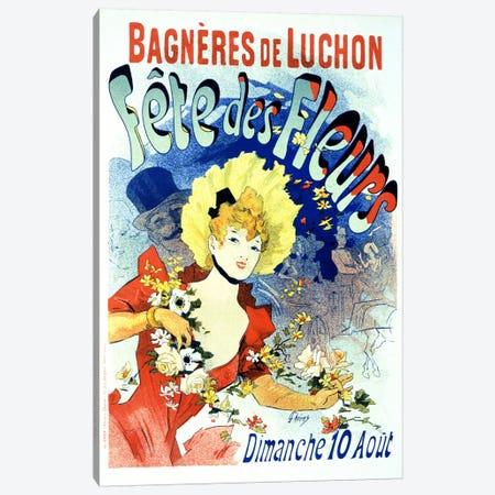 Fete des Fleurs (Bagneres de Luchon) Vintage Poster Canvas Print #5159} by Unknown Artist Art Print