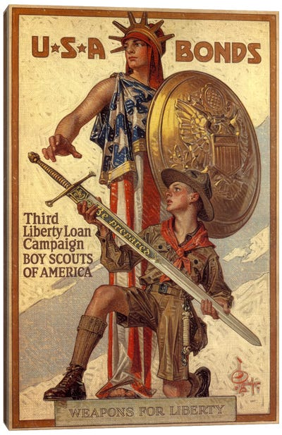 Third Liberty Loan Campaign (Boy Scouts of America) Advertising Vintage Poster Canvas Art Print